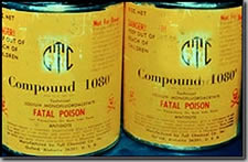 Photo of deadly Compound 1080 poison