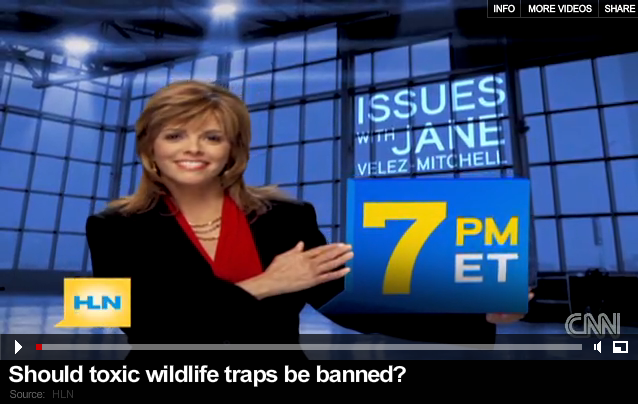 CNN interview on banning toxic wildlife traps