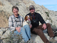 Brooke & Cliff Everest with dog Bea, killed by Compound 1080 poison